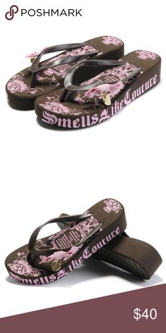 f4589847aafc4e Juicy Couture Carmen Brown Wedge Flip-Flops I never wore them. They are in  new condition. Message me with any questions!  ) Juicy Couture Shoes Wedges