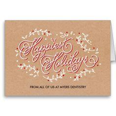 Crafty business holiday card © www.orangepulpdesign.com. Matching calendar cards available!