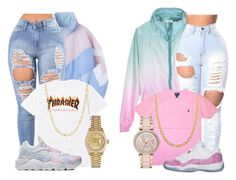 A fashion look from April 2017 by sophisticatedsammy featuring Rolex, Fremada, Michael Kors, Polo Ralph Lauren, Retrò and NIKE Swag Outfits For Girls, Teenage Girl Outfits, Cute Swag Outfits, Cute Comfy Outfits, Teen Fashion Outfits, Dope Outfits, Look Fashion, Stylish Outfits, School Outfits