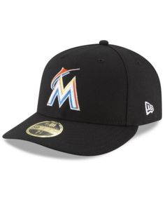 70a9d99bbe4 New Era Miami Marlins Low Profile Ac Performance 59FIFTY Fitted Cap
