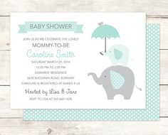 elephant baby girl shower invitation by posypaperprintables Printable Baby Shower Invitations, Baby Shower Invites For Girl, Digital Invitations, Baby Boy Shower, Baby Showers, Elephant Baby Boy, Cute Umbrellas, Pink Umbrella, New Baby Products