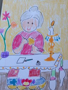 Grandmother's Blessing Oracle Card Whimsical Art by LilyMoonsigns, $4.00