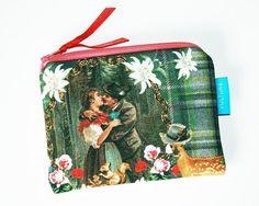 Kosmetiktasche Schminktäschchen Hirsch  von VULTURE auf DaWanda.com Zipper Pouch, Pouches, Lunch Box, Etsy, Bags, Handbags, Bento Box, Bag, Totes