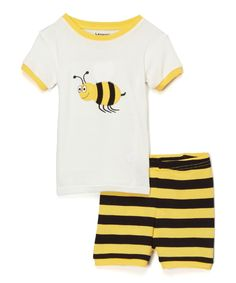 Yellow Bumblebee Pajama Set - Toddler & Kids