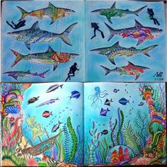 #lostocean #ztracenyocean #oceanoperdido #johannabasford #mondeluz #art #drawing #kohinoor #softpastels #staedtler #coloringbook #mondeluz #kohinoor#draw #coloring #pencil #color #colors #adultcoloring #creative #relax #colouring #colour #artist #arttherapy