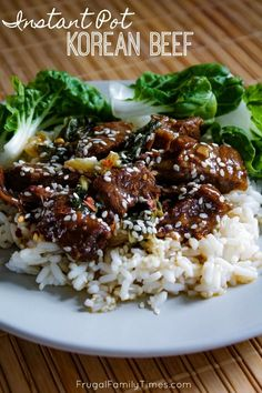 This recipe for Instant Pot Korean beef is so fast and tender! It's low prep and takes so little time compared to traditional Korean Beef. This recipe is so quick you can enjoy tender Korean beef as a weeknight meal - and is budget-friendly using cheaper Beef Recipe Instant Pot, Instant Pot Dinner Recipes, Beef Recipes For Dinner, Leftover Beef Recipes, Instant Pot Chinese Recipes, Korean Beef Recipes, Beef Steak Recipes, Chuck Roast Recipes, Recipes Using Stew Beef
