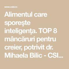 Alimentul care sporeşte inteligenţa. TOP 8 mâncăruri pentru creier, potrivit dr. Mihaela Bilic - CSID: Ce se întâmplă Doctore?