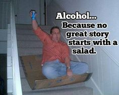 Alcohol stair sledge