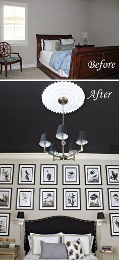 Paint the Ceiling Darker to Draw Your Focus Upwards and Make a Samll Room Feel Bigger.
