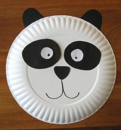 panda paper plate craft   Cindy deRosier: My Creative Life: Paper Plate Panda