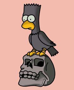 Simpsons Tattoo, Simpsons Drawings, Simpsons Art, Cartoon Character Tattoos, Cartoon Tattoos, Cartoon Characters, Cute Deadpool, Simpsons Halloween, Ralph Wiggum