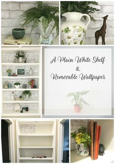 https://paulatisch.com/plain-white-shelf/  Shelving can be such a problem, especially in a rental.  Check out this great removable wallpaper shelving hack!