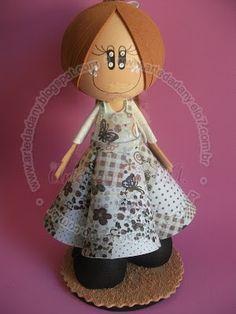 El Rincon Fofuchero: Fofuchas nenas (con moldes)