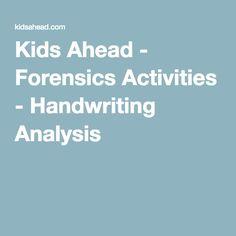 forensic handwriting analysis activity