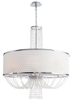 Crystorama - Crystorama Allure 8 Light Drum Shade Chandelier for the dining room
