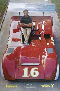 Chris Amon and the Ferrari 612 CanAm.