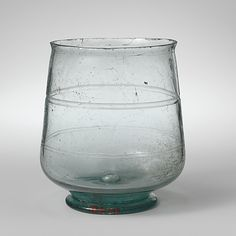 Glass beaker Period: Late Imperial Date: probably 3rd century A.D. Culture: Roman, Cypriot Medium: Glass; blown and cut