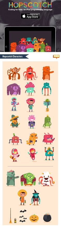 :::Hopscotch characters::: on Character Design Served More