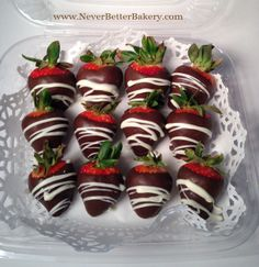 Our Chocolate Covered Strawberries. We use organic strawberries.