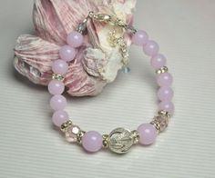 Beaded bracelet Lilac bracelet Lavender Jewelry Purple bracelet Violet bracelet  Women bracelet for her
