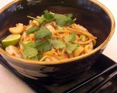 Tiffany Goodall makes a simple, speedy supper inspired by her travels in Thailand using the nation's favourite frozen seafood ' prawns Frozen Seafood, Good Food Channel, Prawn Recipes, Food Inspiration, Yum Yum, Noodles, Cabbage, Healthy Recipes, Fish