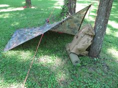 Military poncho shelters