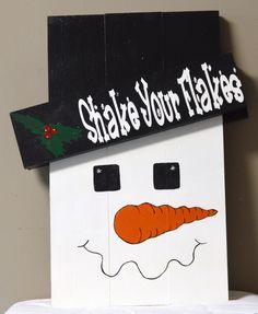 Reversible Christmas/Fall Sign, Snowman, Scarecrow, Autumn, Santa Claus…