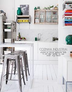 An industrial kitchen.