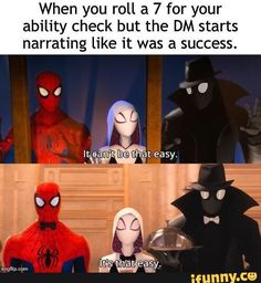 "D&D Memes For The RPG Enthusiasts - Funny memes that ""GET IT"" and want you to too. Get the latest funniest memes and keep up what is going on in the meme-o-sphere. Pen & Paper, Dnd Funny, Dungeons And Dragons Memes, Dragon Memes, Lord, Dnd Characters, It Goes On, Funny Comics, Funny Posts"