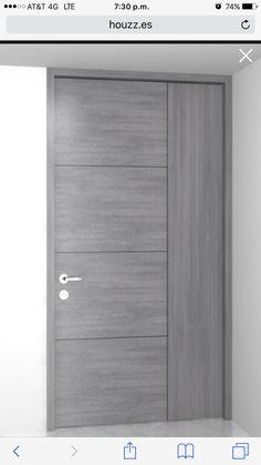 45 Ideas closet de madera gris for 2020 Flush Door Design, Front Door Design Wood, Door Gate Design, Wooden Door Design, Main Door Design, Modern Entrance Door, Modern Wooden Doors, Modern Door, Bedroom Door Design