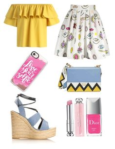 """School girl"" by sassievanrobays on Polyvore featuring Chicwish, Yves Saint Laurent, Prada, Christian Dior and Casetify"