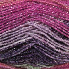 King Cole Shine Dk is a trendy retro, self striping yarn, with its metallic thread it glistens and adds a lovely shine to any garment you make. It is available in a variety of shades and will knit to any standard Dk pattern.