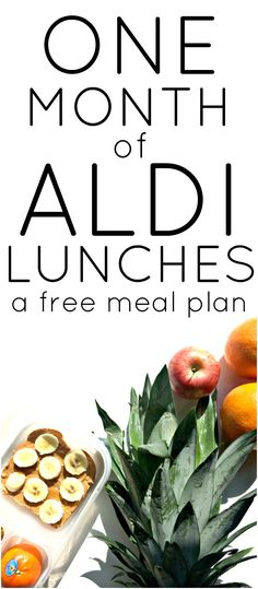 Grab this free Aldi meal plan. One month of Aldi lunch ideas your kids will love. We included a FREE printable planner for you and our very own Aldi recipes! Save money this year with this free resource!