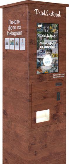 PrintInstvud - Киоски(автоматы) для печати фото из Instagram. Фотографии формата Polaroid - 3x4 дюйма и 4x6 дюймов.