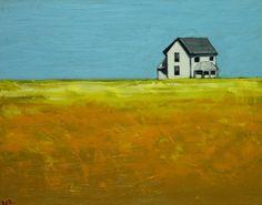 Landscape painting 252 16x20 inch farmhouse original oil by RozArt