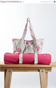 Spring Sale Set of two Pink Yoga Mat Bag Sakura by KlothoBags Yoga Bag Pattern, Bag Pattern Free, How To Tie Dye, Yoga Mat Bag, Free Yoga, Yoga Accessories, Spring Sale, Latest Technology, Latex Free