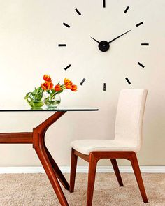 Reloj de pared. Perfecto para el comedor o la cocina. Prueba a hacerlo tu mismo.