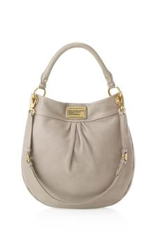 Love>>  Marc by Marc Jacobs- Classic Q Hillier Hobo in Cement