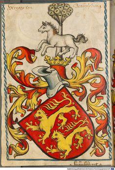 Scheibler'sches Wappenbuch Süddeutschland, um 1450 - 17. Jh. Cod.icon. 312 c  Folio 10