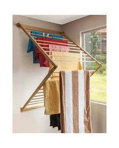 Did you want make a laundry room? Here we present 40 Stunning Laundry Room Design. Drying Rack Laundry, Clothes Drying Racks, Hanging Clothes Racks, Diy Furniture, Furniture Design, Diy Rangement, Laundry Room Design, Küchen Design, Quilt Design