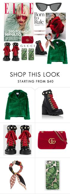 """""""born to rule"""" by fashionbabe55 ❤ liked on Polyvore featuring Victoria, Victoria Beckham, MSGM, Gucci and Casetify"""