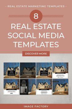 Real Estate Business, Real Estate Marketing, Viral Marketing, Marketing Ideas, Realtor Listings, Online Profile, Social Media Template, Photoshop, Templates