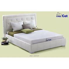Lazy Cat 6 inch Natural Green Tea Memory Foam Mattress, Multiple Sizes, White