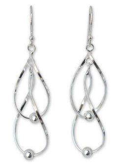 Hand Made Modern Sterling Silver Dangle Earrings - Fabulous   NOVICA