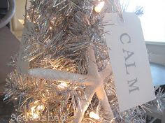 Seaside Christmas tree.