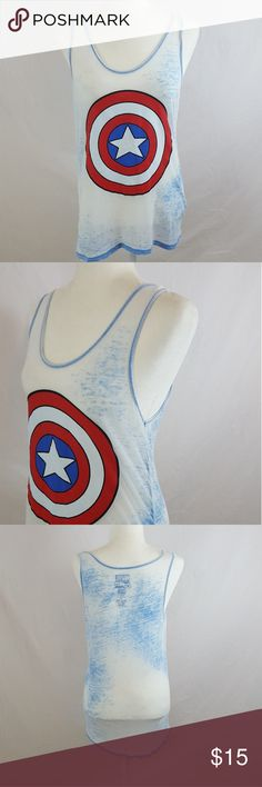 Marvel - Captain America Tank EUC! Authentic Marvel Brand. Worn Once. Marvel Tops Tank Tops