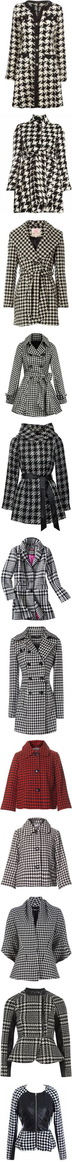 """""""Pied de poule (houndstooth)"""" by inmango ❤ liked on Polyvore"""