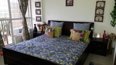 Indian Bedroom Decor, Indian Home Decor, Decorating Your Home, Diy Home Decor, India Decor, Indian Homes, New Room, Bedroom Wall, Apartment Living
