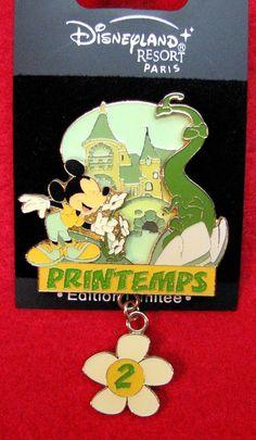 Disney Pin - Mickey in Spring - Printemps - DLRP - Paris - LE 900