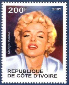 Republique de Cote D'Ivoire stamp - Marilyn Monroe Stamp-2009-